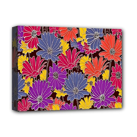 Colorful Floral Pattern Background Deluxe Canvas 16  x 12
