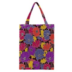 Colorful Floral Pattern Background Classic Tote Bag