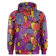 Colorful Floral Pattern Background Men s Pullover Hoodie