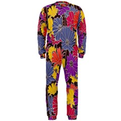 Colorful Floral Pattern Background OnePiece Jumpsuit (Men)