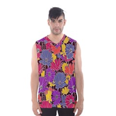 Colorful Floral Pattern Background Men s Basketball Tank Top