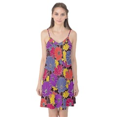 Colorful Floral Pattern Background Camis Nightgown