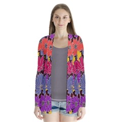 Colorful Floral Pattern Background Cardigans