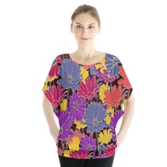 Colorful Floral Pattern Background Blouse