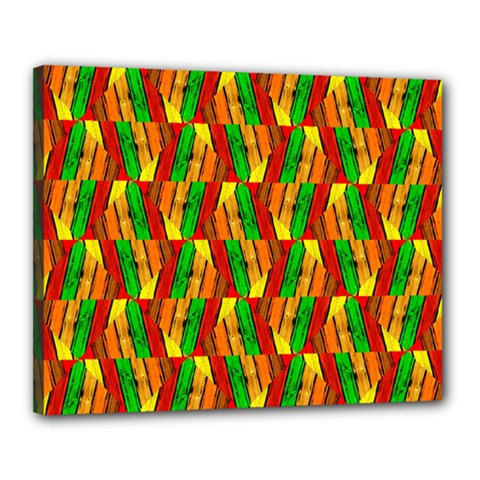 Colorful Wooden Background Pattern Canvas 20  x 16