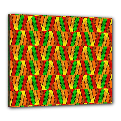 Colorful Wooden Background Pattern Canvas 24  x 20