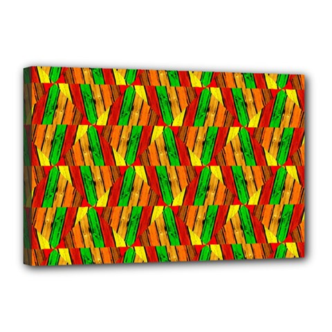 Colorful Wooden Background Pattern Canvas 18  X 12