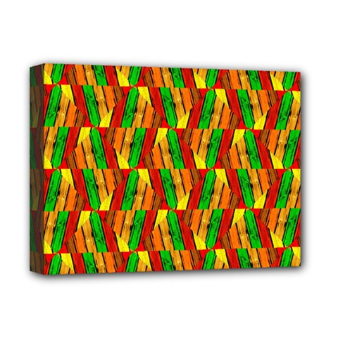 Colorful Wooden Background Pattern Deluxe Canvas 16  x 12