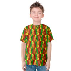 Colorful Wooden Background Pattern Kids  Cotton Tee