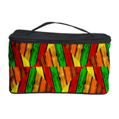 Colorful Wooden Background Pattern Cosmetic Storage Case