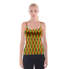 Colorful Wooden Background Pattern Spaghetti Strap Top