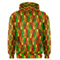 Colorful Wooden Background Pattern Men s Pullover Hoodie