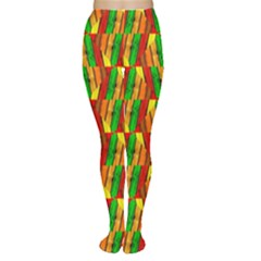Colorful Wooden Background Pattern Women s Tights