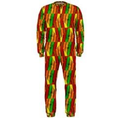 Colorful Wooden Background Pattern Onepiece Jumpsuit (men)