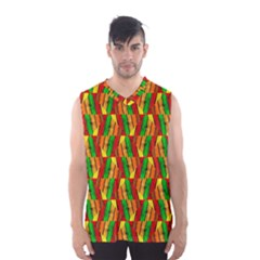 Colorful Wooden Background Pattern Men s Basketball Tank Top