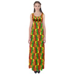 Colorful Wooden Background Pattern Empire Waist Maxi Dress