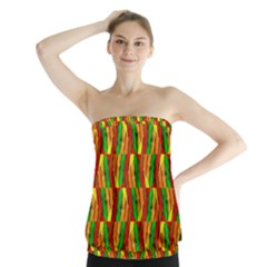Colorful Wooden Background Pattern Strapless Top