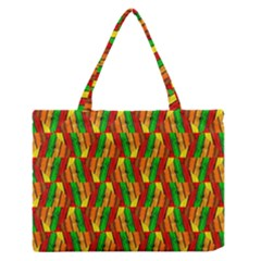 Colorful Wooden Background Pattern Medium Zipper Tote Bag