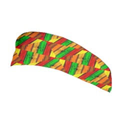 Colorful Wooden Background Pattern Stretchable Headband