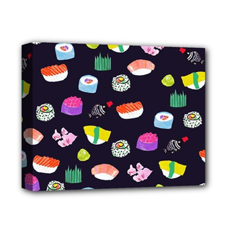 Japanese Food Sushi Fish Deluxe Canvas 14  x 11