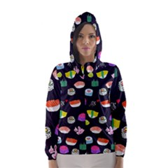 Japanese Food Sushi Fish Hooded Wind Breaker (Women)