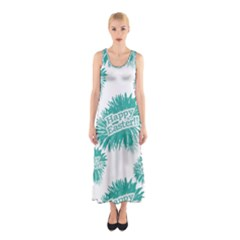 Happy Easter Theme Graphic Print Sleeveless Maxi Dress