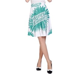 Happy Easter Theme Graphic Print A-Line Skirt