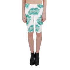 Happy Easter Theme Graphic Print Cropped Leggings