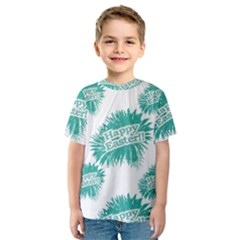 Happy Easter Theme Graphic Print Kids  Sport Mesh Tee