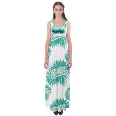 Happy Easter Theme Graphic Print Empire Waist Maxi Dress