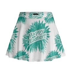 Happy Easter Theme Graphic Print Mini Flare Skirt