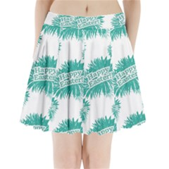 Happy Easter Theme Graphic Print Pleated Mini Skirt