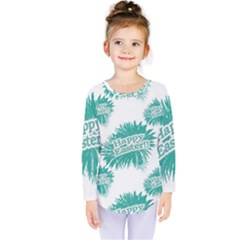 Happy Easter Theme Graphic Print Kids  Long Sleeve Tee