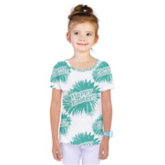 Happy Easter Theme Graphic Print Kids  One Piece Tee