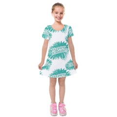 Happy Easter Theme Graphic Print Kids  Short Sleeve Velvet Dress