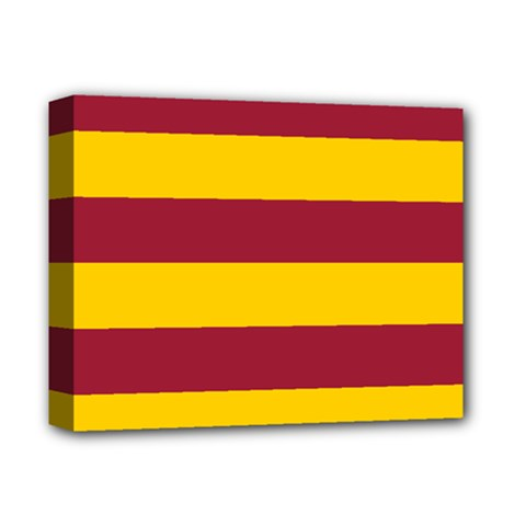 Oswald s Stripes Red Yellow Deluxe Canvas 14  x 11