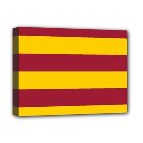 Oswald s Stripes Red Yellow Deluxe Canvas 16  x 12