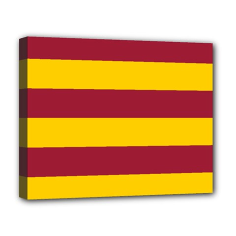Oswald s Stripes Red Yellow Deluxe Canvas 20  x 16