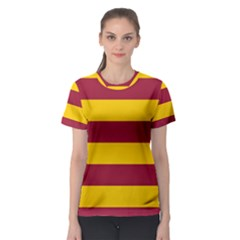 Oswald s Stripes Red Yellow Women s Sport Mesh Tee