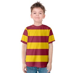 Oswald s Stripes Red Yellow Kids  Cotton Tee