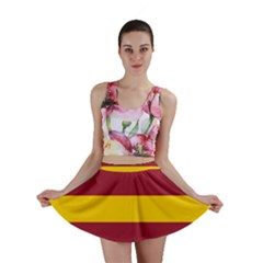 Oswald s Stripes Red Yellow Mini Skirt
