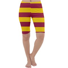 Oswald s Stripes Red Yellow Cropped Leggings