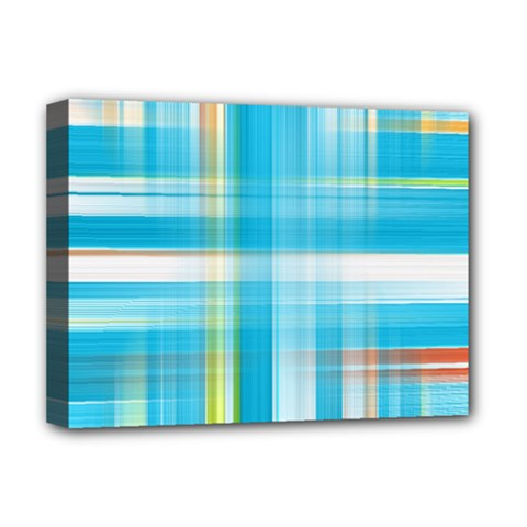 Lines Blue Stripes Deluxe Canvas 16  x 12