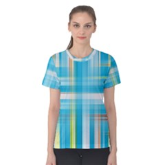 Lines Blue Stripes Women s Cotton Tee