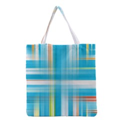 Lines Blue Stripes Grocery Tote Bag