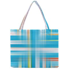 Lines Blue Stripes Mini Tote Bag