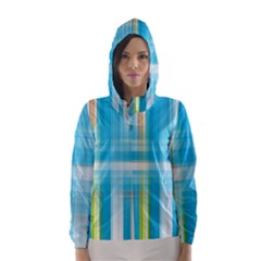 Lines Blue Stripes Hooded Wind Breaker (Women)