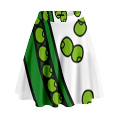 Peas Green Peanute Circle High Waist Skirt