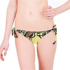 Labels Net Circle Brown Bikini Bottom