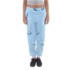 Seat Blue Polka Dot Women s Jogger Sweatpants